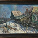 Этюд Деревня Сосенки 50х60 1990г.
