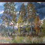 Осенний пейзаж 64х93 1991г.