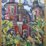 Вид на церковь Климента 60х80 1991г.