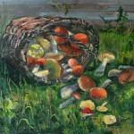 Натюрморт с грибами 75х75 холст, масло 2011г.