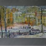 Вид с Гоголевского бульвара 43х61 2013г.
