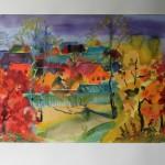 Осень в Верее акв.б. 43х61 2013г