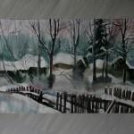Сараи в снегу акв. бум. 35х56 2013