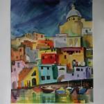 Вид на город Прочида(Италия) 42х49,5 2013г