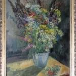 Полевые цветы , пижма и рябина 60х90 холст , масло 2005г.